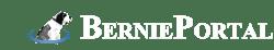 BerniePortal logo white, blue dog, no background
